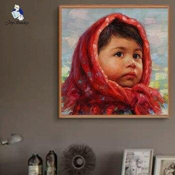 Joy Sunday Cross Stitch Embroidery Kits 11,14CT Reading Headscarf girl Cotton Thread Painting DIY Needlework DMC Home Decor 8