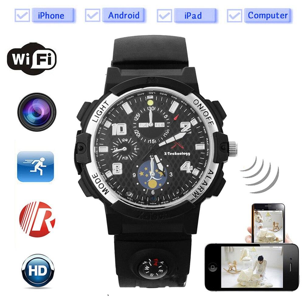Foxwear Remote Wifi Camera Smart Watch Wireless HD Video Recorder Night Vision Sport Motion Detection Camera Compass LED Torch. цена