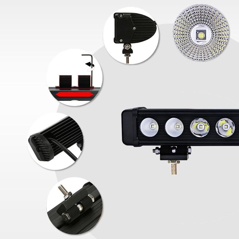 Image 5 - XuanBa 10W/Pcs Led Light Bar Car External Light 12V Led Bar Offroad 4x4 SUV ATV Truck Tractor Spotlight Led Work Driving Lights-in Light Bar/Work Light from Automobiles & Motorcycles