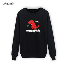 Unstoppable Dinosaur Hoodies Men/Women Sweatshirts Harajuku Men's Casual Hoodies Men Sweatshirts Hip Hop Hoodies Men Tops Hoodie(China)