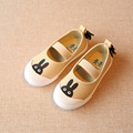 2016 Otoño versión coreana de los niños zapatos de las muchachas zapatos de lona linda de la historieta niños ocio fottwear ocasionales de los planos de deslizamiento en los zapatos