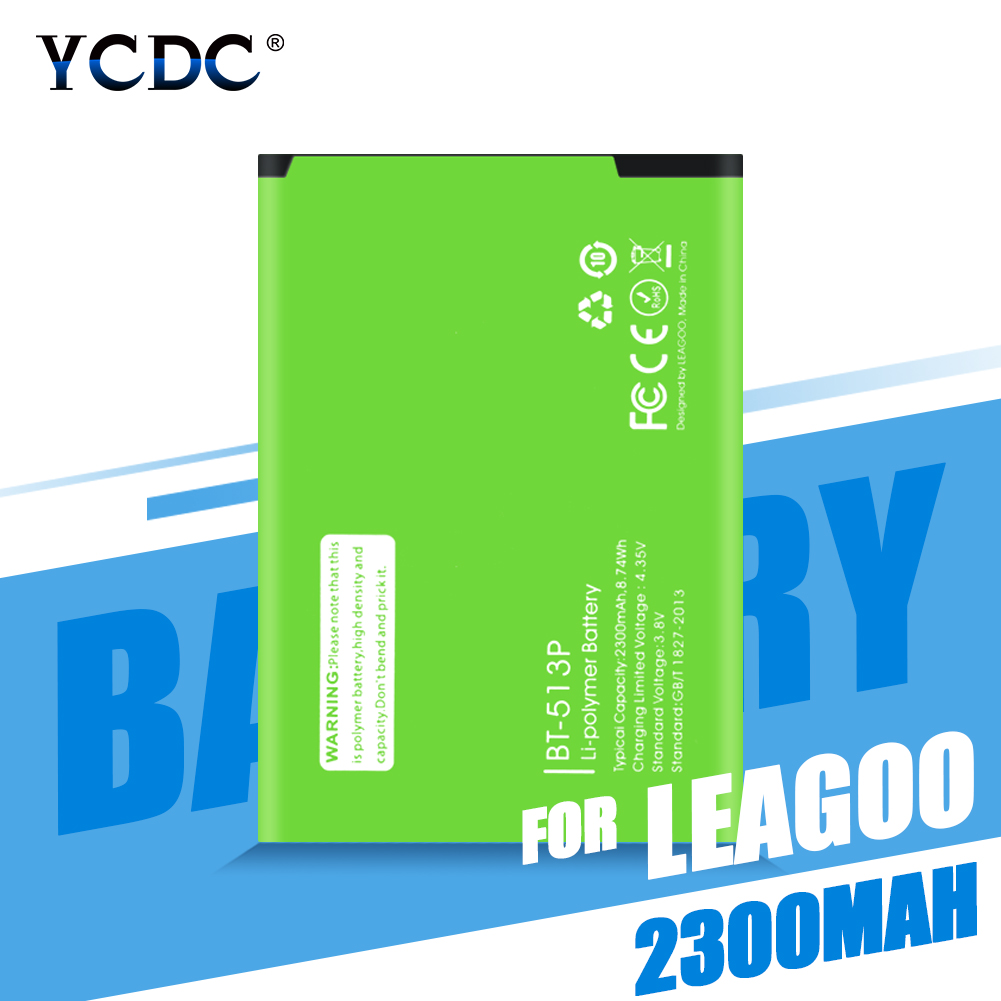 Genuine 2300mAh BT-513P Battery For <font><b>LEAGOO</b></font> <font><b>M5</b></font> BT513P Cell Phone Replacement Rechargeable Lithium Polymer Phone <font><b>Bateria</b></font> Batteries image