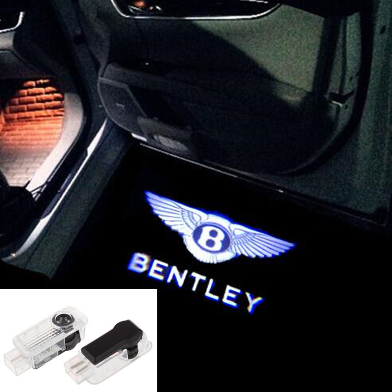 2 Pcs Car Logo Door Welcome Light Car LED Projector Laser For Bentley Car Light
