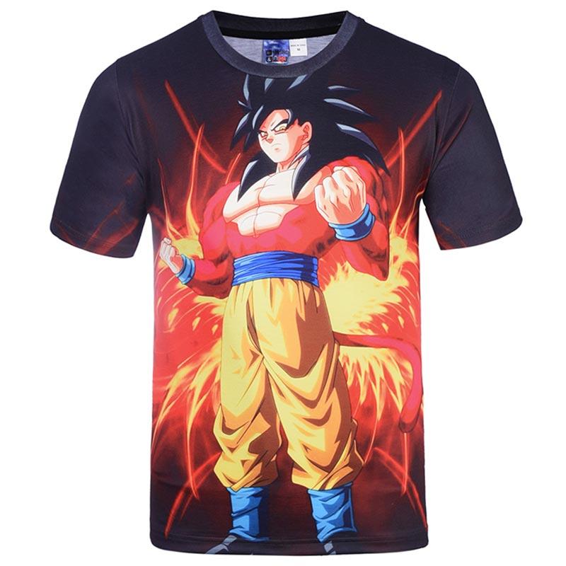 2017 New Japanese Anime T-shirts Women Men Dragon Ball Z Saiyan Tee Shirt BoyGirl Cartoon 3D Print T shirt Summer Tops Tees (12)