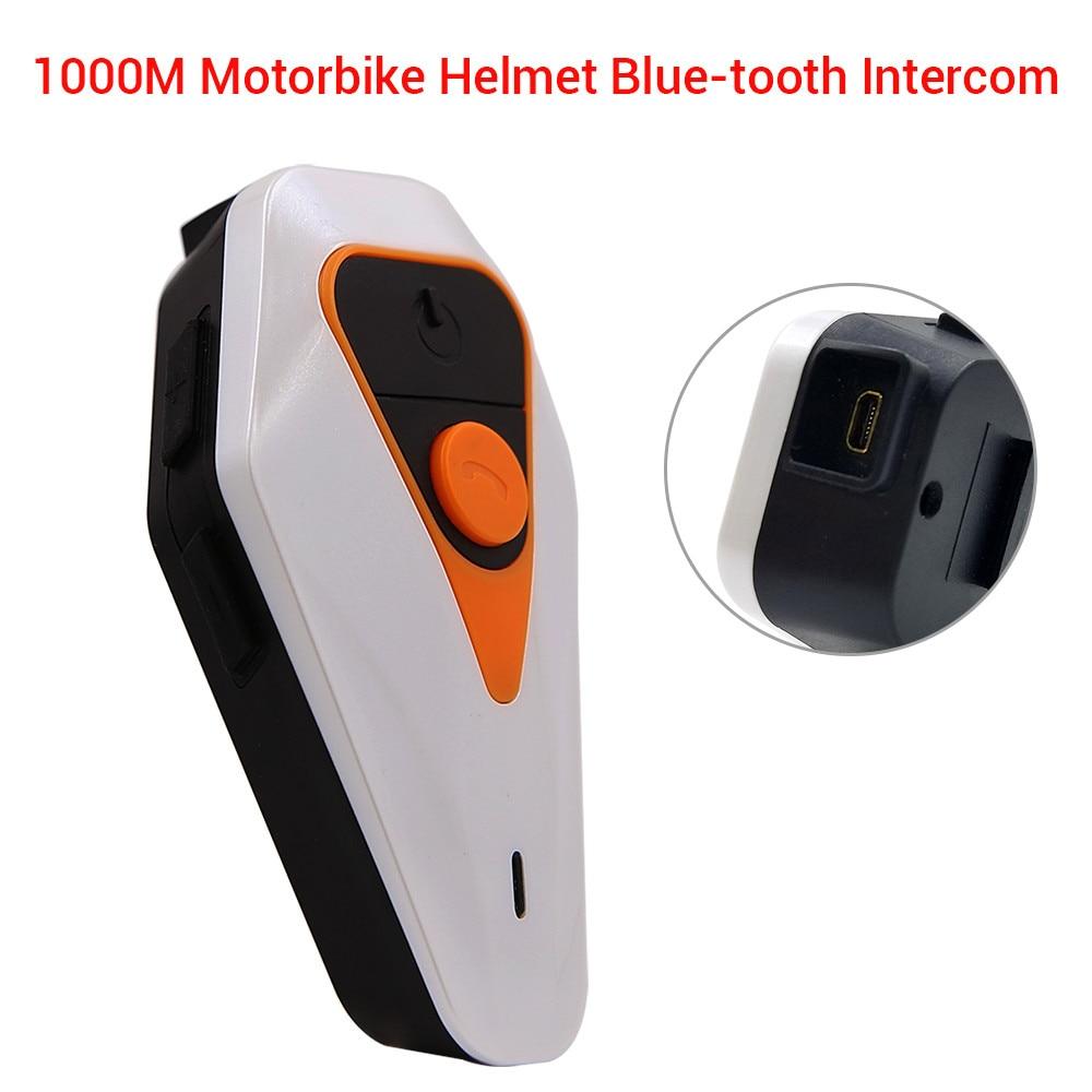Waterproof BT-S2 1000m Bluetooth Interphone Handsfree Motorcycle Helmet Intercom FM Radio Headset 3.0+EDR WT003