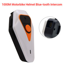 Waterproof BT-S2 1000m Intercom Motorcycle Bluetooth Helmet Wireless Handsfree Moto Headset Interphone FM MP3 For Outdoor Sport