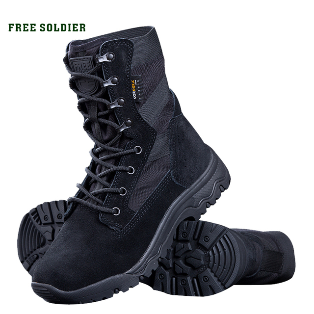 FREE SOLDIER Outdoor sports tactical military boots men's boots army combat light shoes for camping hiking