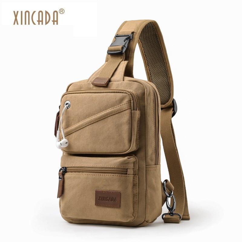 XINCADA Crossbody Bag Sling Bag Small Messenger Bag Man Purse Shoulder Travel Chest Pack for Men and Women