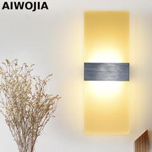 цена на Modern12W Aluminum Led indoor wall lamps Surface Mounting Decoration Sconces Wall Lighting Fixtures Silver / Black