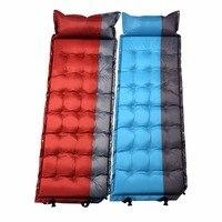 CQD 1003 Comfortable Inflatable Air Mattress Pillow Folding Sleeping Bed Moistureproof Camping Travel Sleeping Air Bed