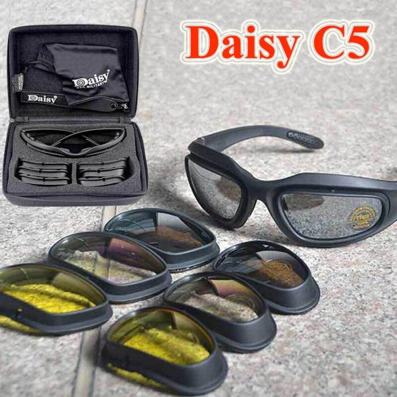 Prix pour Multifonction Polarisées Vélo lunettes de Soleil Militaire Airsoft Tir Lunettes Daisy C5 Chasse Randonnée Lunettes Vélo De Route Lunettes