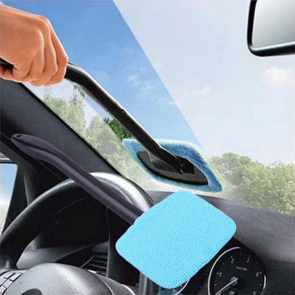 Window Brush Pembersih Kaca Jendela Otomatis Wastafel Air Semprot Dengan Removable Hhm176 Plastik Cleaner Microfiber Auto Berguna Dicuci Panjang Menangani Brushes Spons Alat Mobil