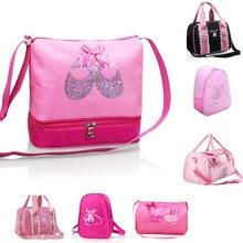 Girls Canvas Ballet Dance Bag Children Ballerina Sports Backpacks Cute Embroidered Bag For Dance 7 Styles цена