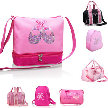 Girls Canvas Ballet Dance Bag Children Ballerina Sports Backpacks Cute Embroidered For 7 Styles - discount item  10% OFF Stage & Dance Wear