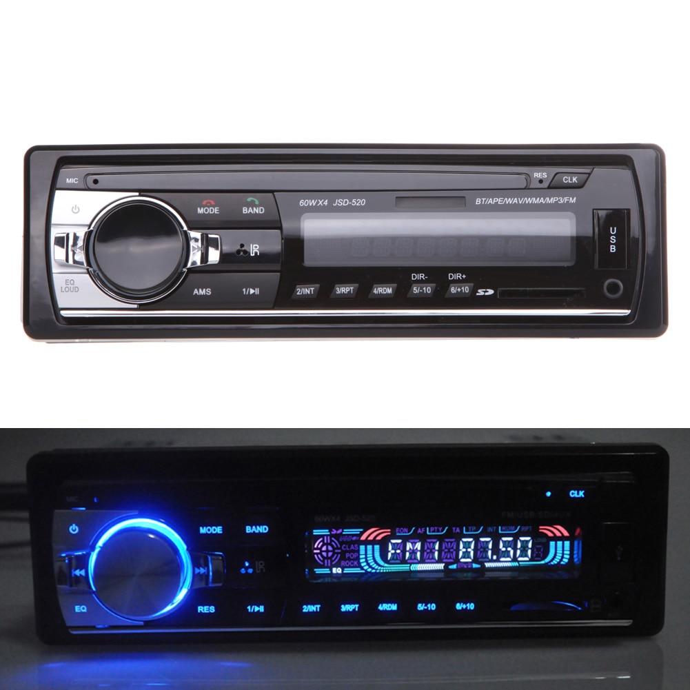 1Din Bluetooth Car Radio Mp3 Player In-dash FM/USB Remote Control For Iphone 12V Car Auto Audio Radio Player FM Radio Receiver