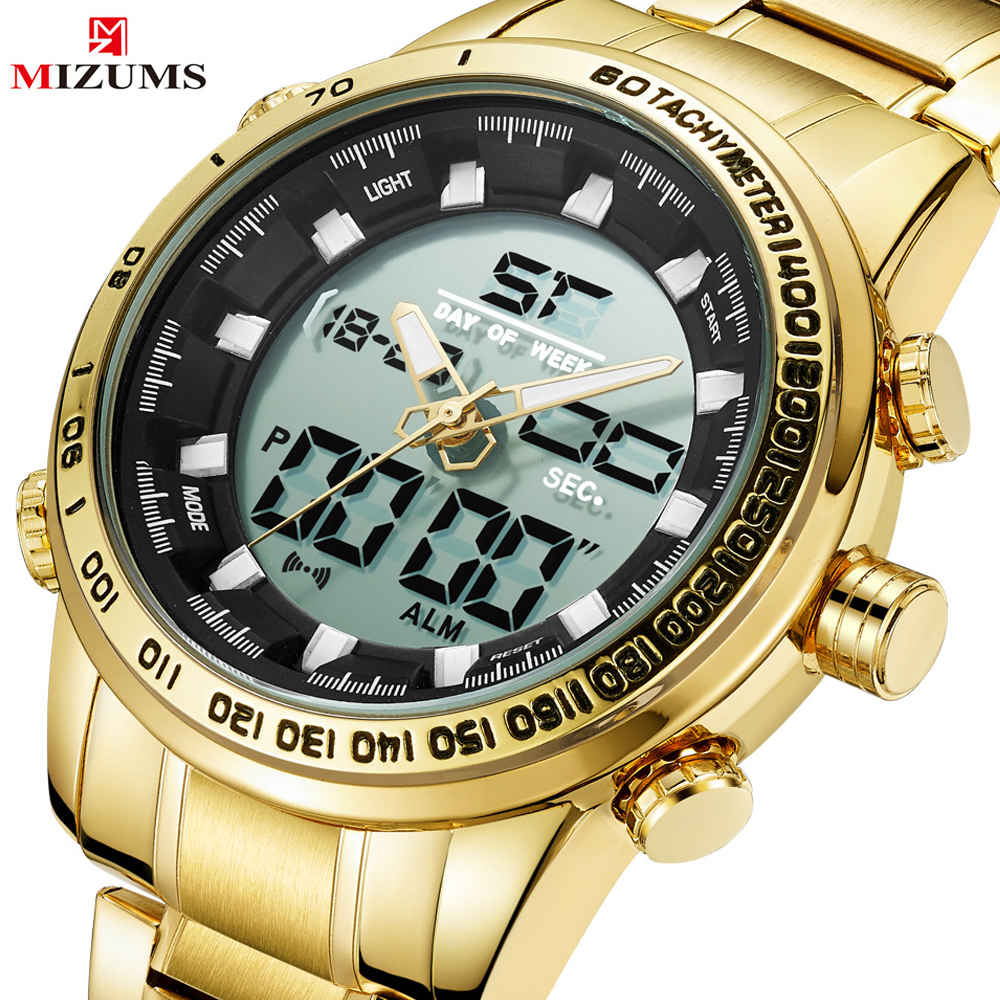 Relogio Masculino 2019 Luxury Gold Quartz Watch Men Military Waterproof LED Sport Digital Watches Men's Clock Wristwatches