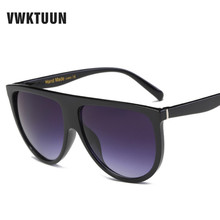 VWKTUUN Flat Top Sunglasses Women Oversized Sun glasses Squa