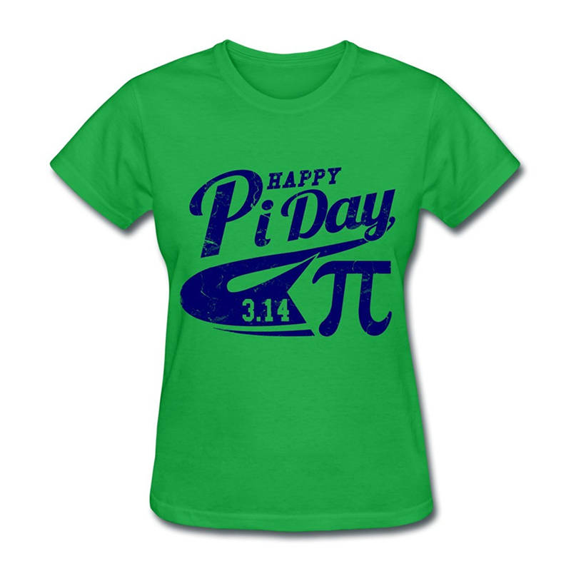 T Shirt Shop Crew Neck Short-Sleeve Fashion 2018 Womens Happy Pi Day Collegiate Tee Shirts