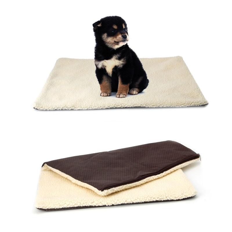 Super Soft Self Heating Cat Dog Bed Cushion Pet Thermal Warm Fleece Rug Mattress