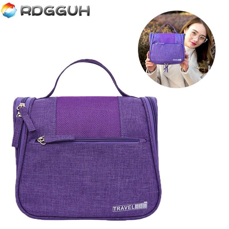 RDGGUH 2017 Travel Cosmetic Bag Unisex Women Organizer Bag Hanging Necessaries Makeup Bags Washing Toiletry Kits Storage Pouch