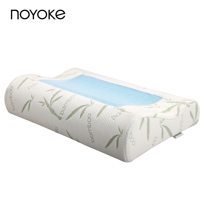 NOYOKE Upgrade Version Summer Cooling Gel Memory Foam Pillow Comfort Orthopedic Neck Pillow with Washable Pillowcase