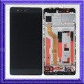 Preto display lcd de toque assembléia digitador de vidro + quadro para huawei p9 eva-l09 padrão