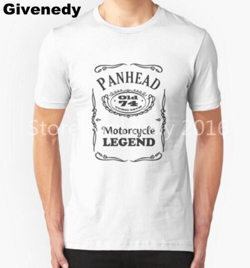 Panhead motorcycle legend Mens & Womens fashion style o-neck T shirt Custom T Shirt