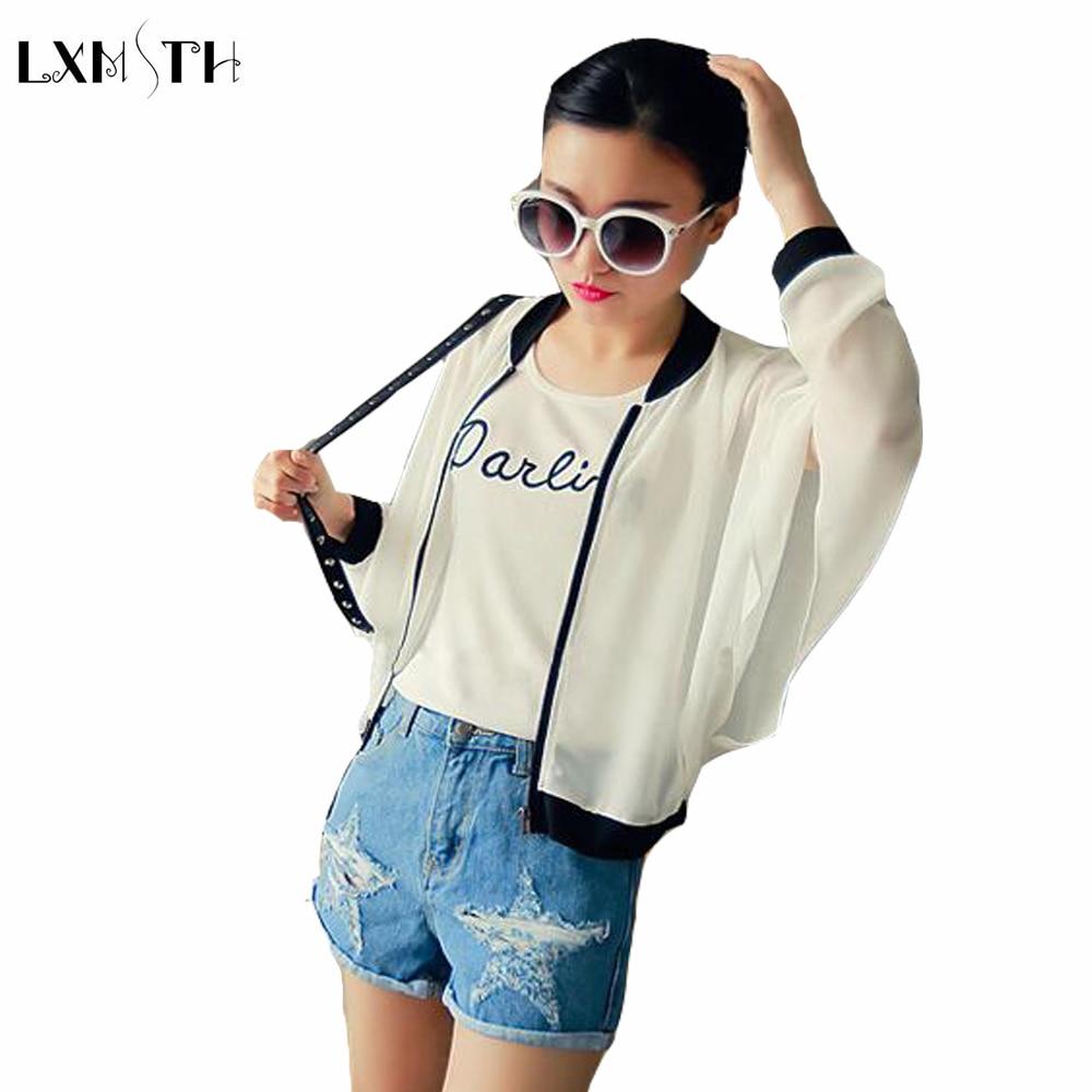 Online Shop LXMSTH Spring Summer Summer Women Chiffon Cardigans ...