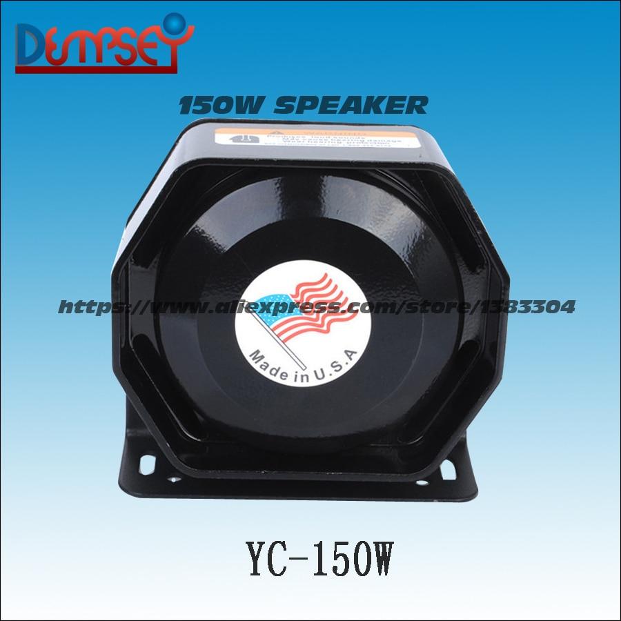 Dempsey 150W for Police Siren Ultra Slim Loud 12V alarm Siren Loud warning Speaker Emergency horn Black Metal( YC-150W) byz yc 003 black