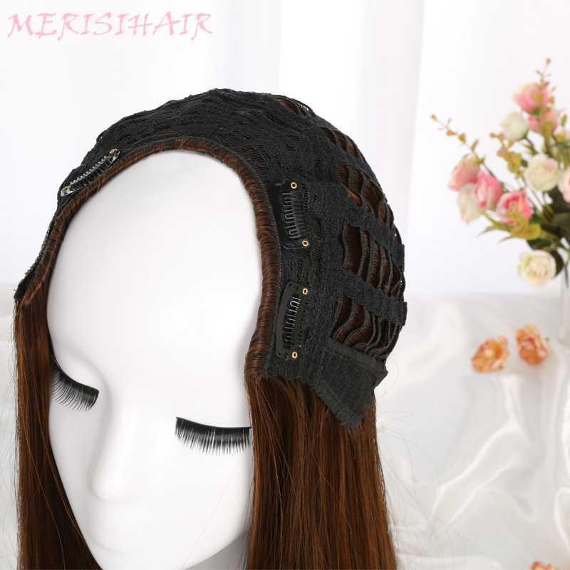 MERISI волосы длинные волнистые парик 8 цветов доступны черный красный синий коричневый фиолетовый парик для женщин полупарики синтетические волосы