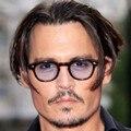 Vintage Clear Vidrio Tintado Johnny Depp Gafas de Marco Retro gafas de Sol Masculinas Hombres de la Marca de Lujo Gafas de Sol de Las Mujeres Oculos Mujer