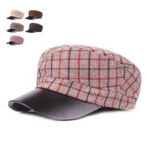 9000396a9f31c Military Cap Hat Female Winter Hats For Women Men Ladies Army Militar Hat  Pu Leather Visor Black Cap Sailor Hat Male Plaid Bone