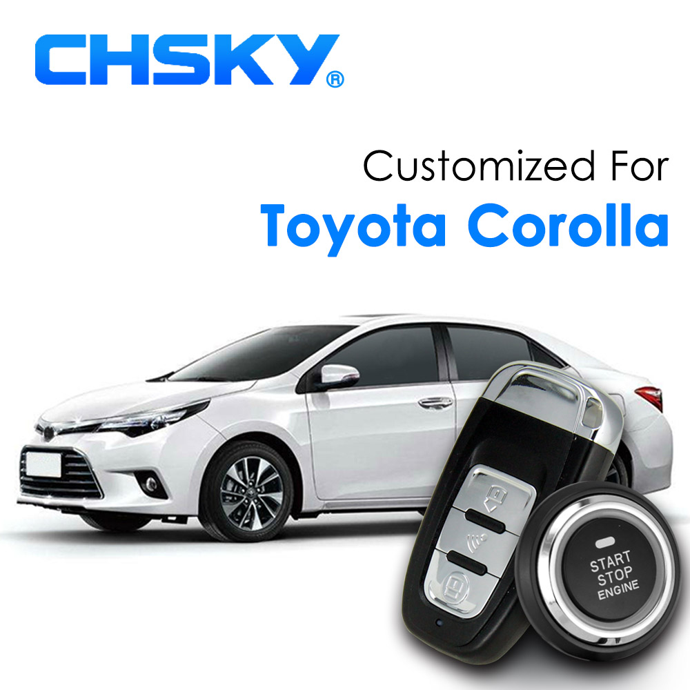 chsky car rfid keyless start entry system push start stop button engine remote ignition car. Black Bedroom Furniture Sets. Home Design Ideas