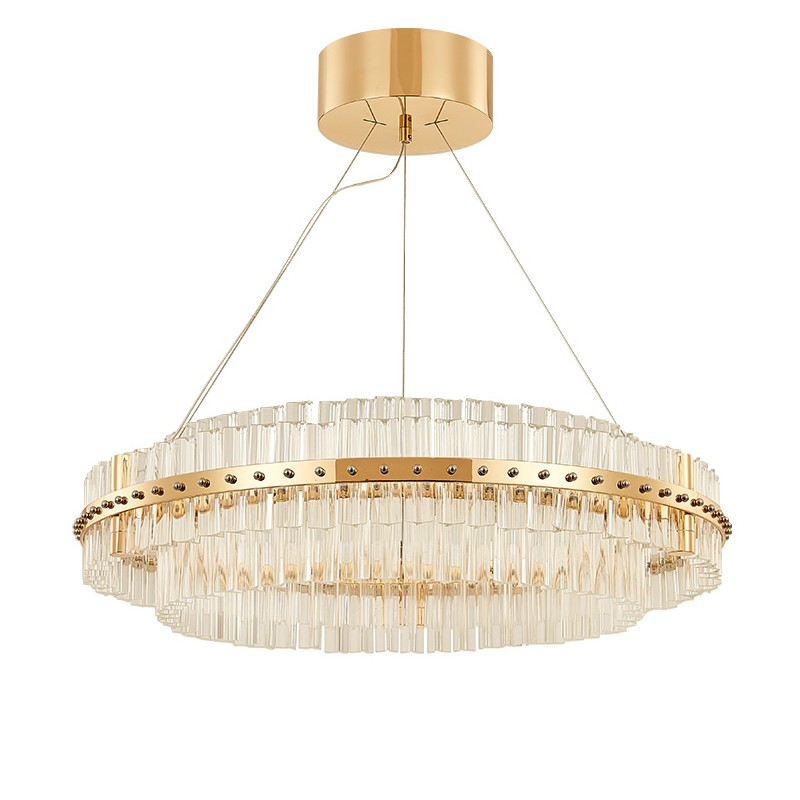 Modern ring shape Crystal Ceiling Light With Glass Lampshade Gold Ceiling Lamp for Living Room Bedroom lamparas de techo abajur