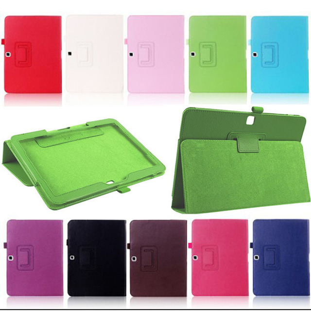 buy online ca242 cec98 US $10.4 23% OFF|New Folio Leather Protective Case Stand Flip Cover for  Samsung Galaxy Tab 4 10.1 SM T530 T531 T535 Tablet Accessories YD-in  Tablets & ...