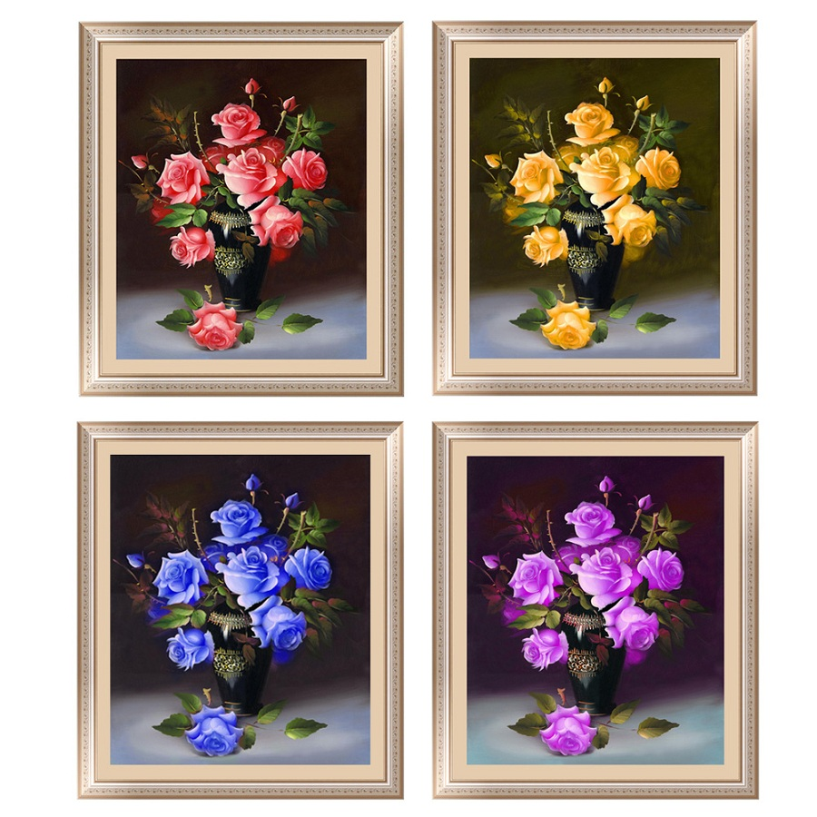 Buy 5d diamond painting diamond for Rose home decorations