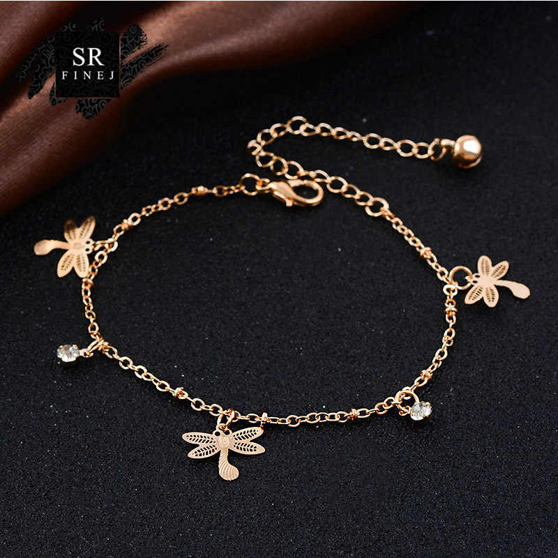 SR:FINEJ Sexy Anklet Ankle Bracelet Cheville Barefoot Sandals Foot Jewelry Leg Chain On Foot Pulsera Tobillo For Women Halhal YY