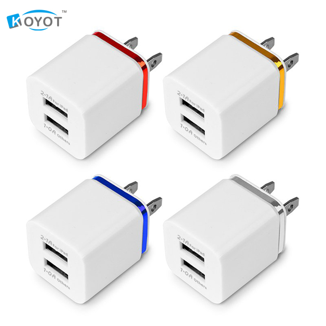 Dual USB Cell Mobile Phone Charger 5V2.1A/1A EU US Plug Wall Power Adapter for ipad iPhone Samsung HTC Cell Phones 2Ports