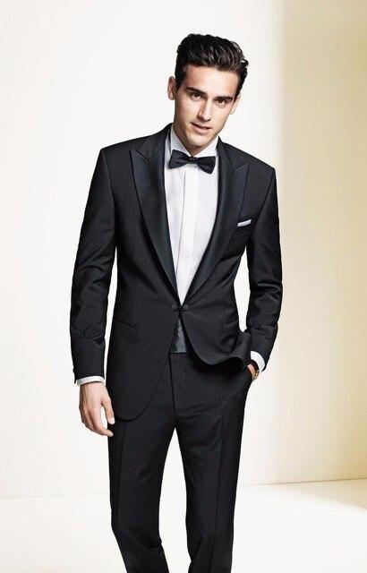 Aliexpress.com : Buy 2018 Men Suit Fashion Black Men's Groom Wear ...