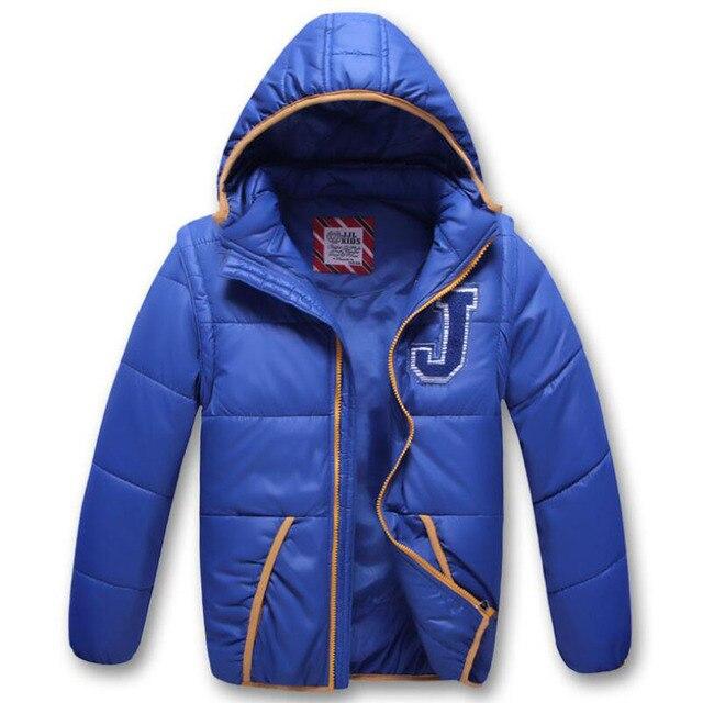 Abrigo cortavientos a prueba de viento para niño, chaqueta desmontable con capucha para niño, Otoño e Invierno