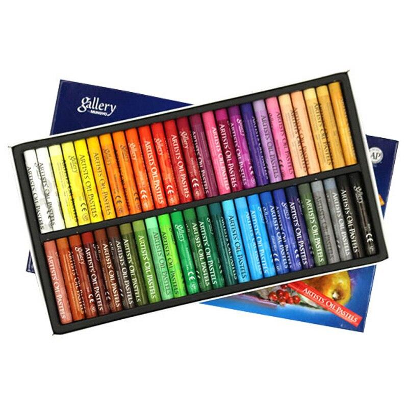 48 colores de forma redonda de color Pastel para artista estudiante Graffiti pintura dibujo pluma escuela papelería arte suministros de crayón suave