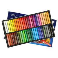 48 colores forma redonda Pastel al óleo para artista estudiante Graffiti pintura pluma de dibujo papelería escolar suministros de arte Cera blanda