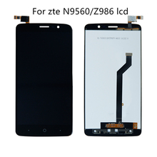 For ZTE Max XL n9560 LTE z986 touch screen digitizer glass LCD display mobile phone assembly display panel replacement