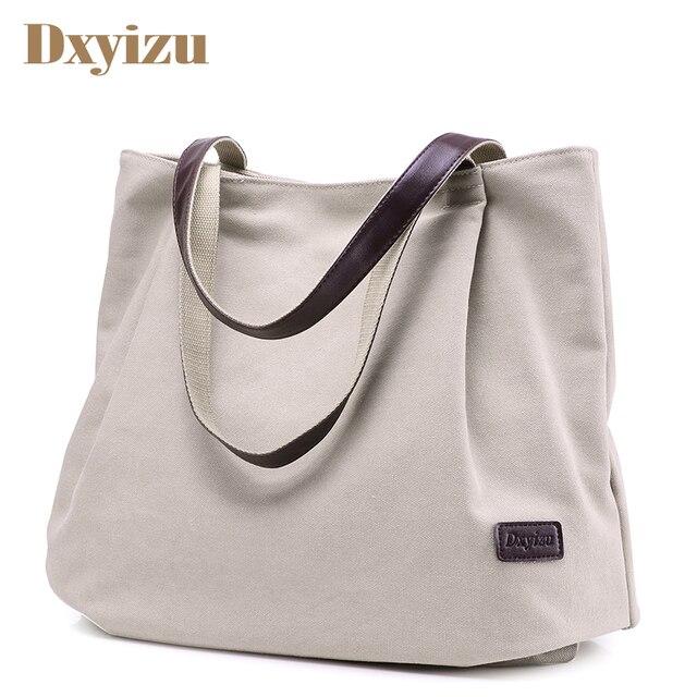 Women Daily Canvas Shoulder Bags Big Size Vintage Travel Tote Large  Capacity Women Handbag Solid Casual 404d9f76887d1