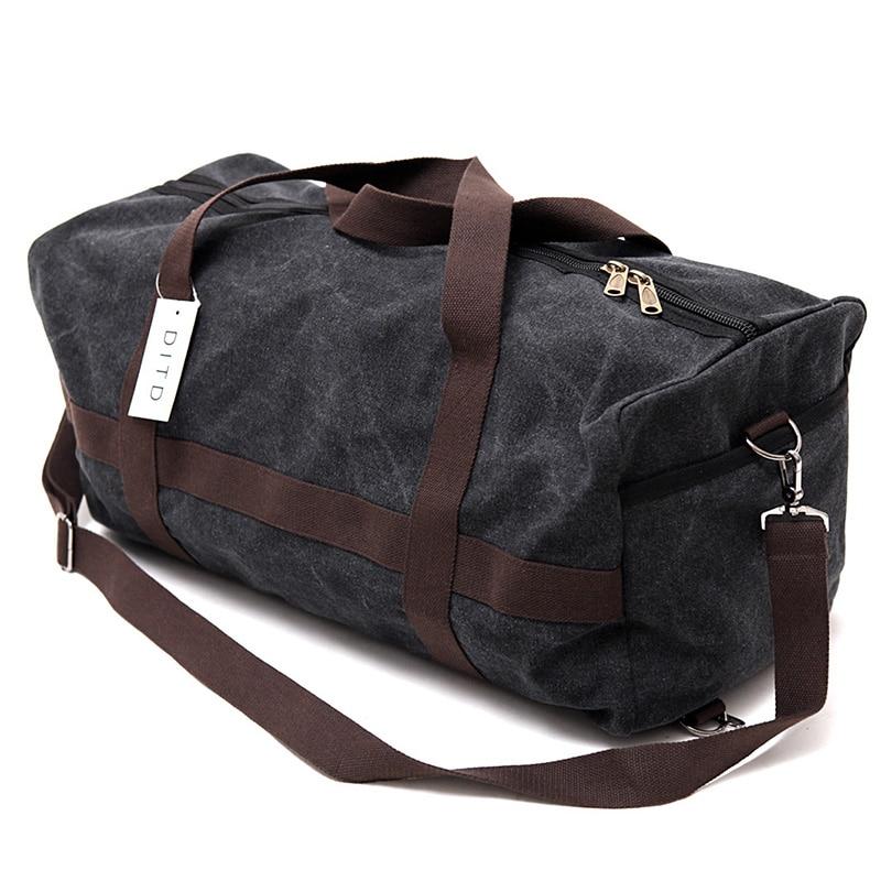 Wearproof Canvas Men Travel Bag Large Capacity Women Hand Luggage Travel Duffle Bag Weekend Bags Reistas