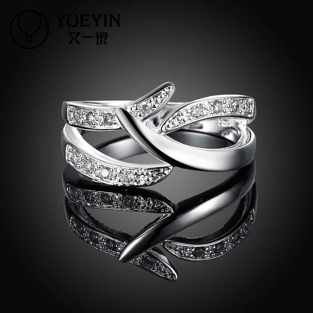 หญิงเงินงานแต่งงานแหวนเครื่องประดับ bague Femme CLASSIC ไม่เคย Original Designs แหวนสตรี