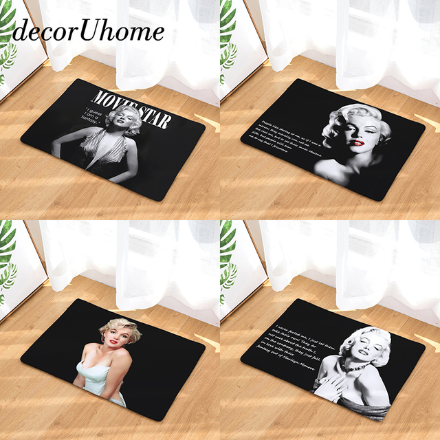 Decoruhome Entrance Waterproof Door Mat Marilyn Monroe Kitchen Rugs Bedroom Carpets Decorative Stair Mats Home Decor