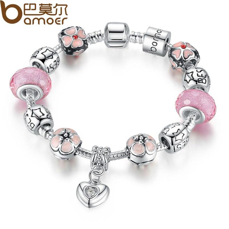 charm pandora murano rosa