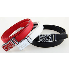 Ladies Genuine Leather Automatic Buckle Belt