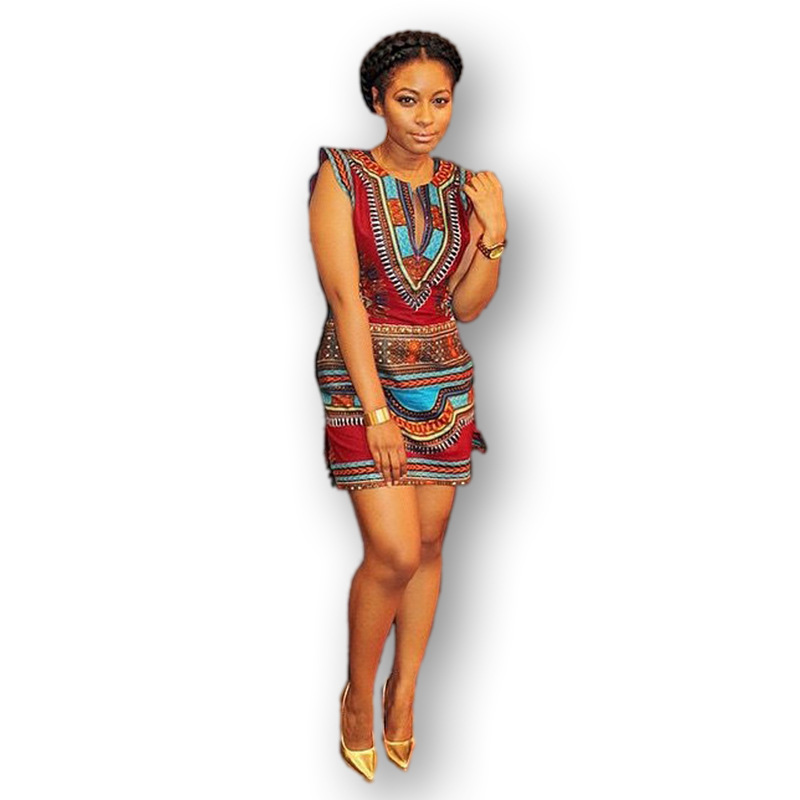 2016 neue sommerkleid sexy mini african tranditional. Black Bedroom Furniture Sets. Home Design Ideas